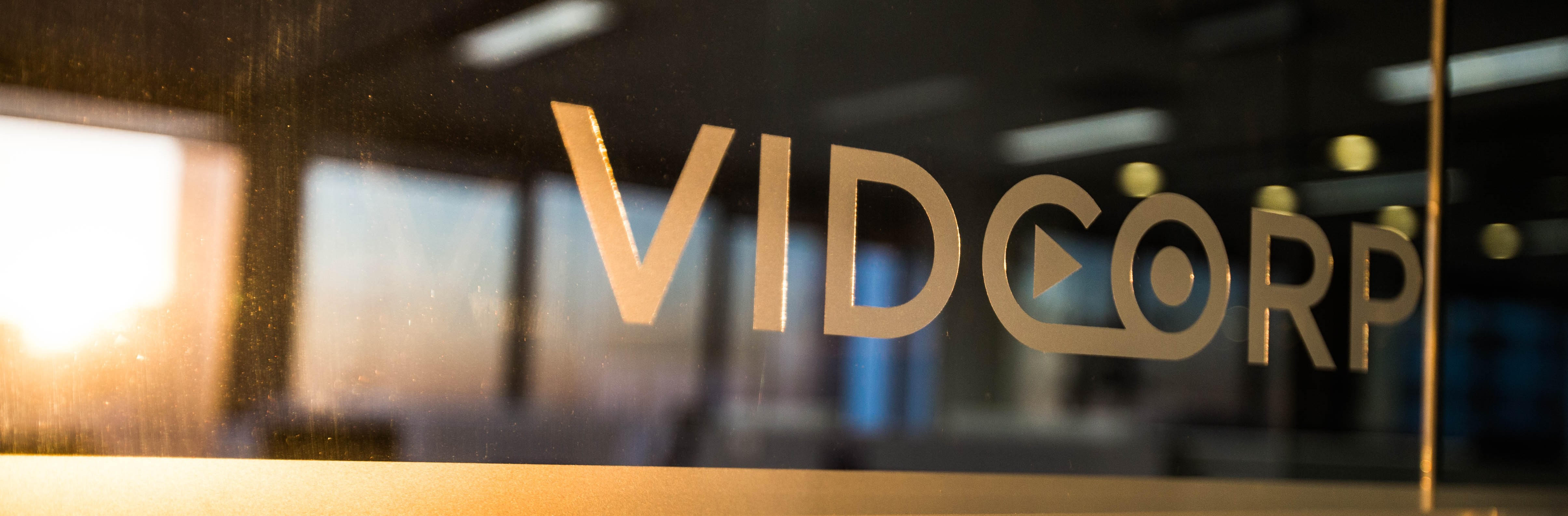 VidCorp Office Window