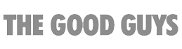 The Good Guys logo grey