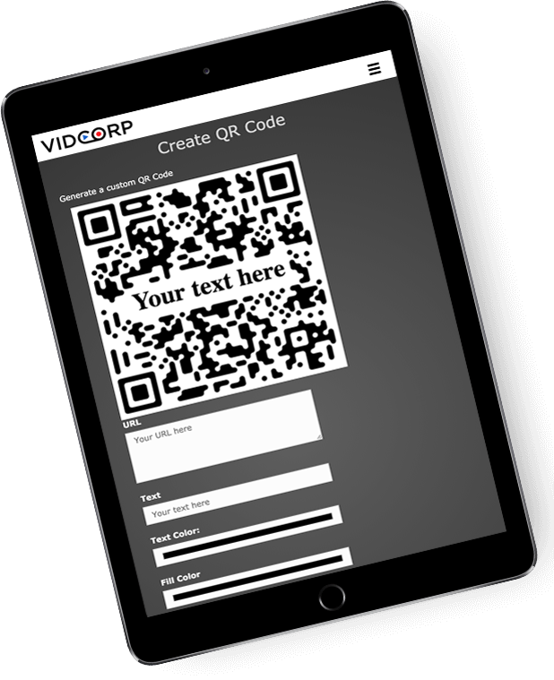 QR code creation sample page