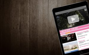 video on an ipad with wooden floorboard