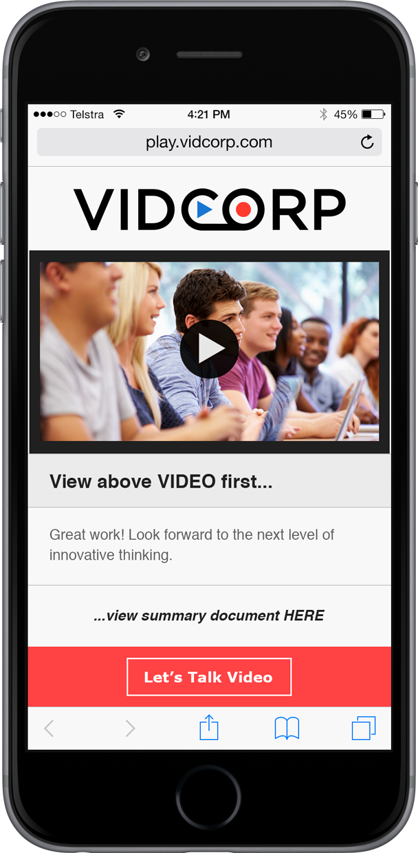 VidCorp Education demo
