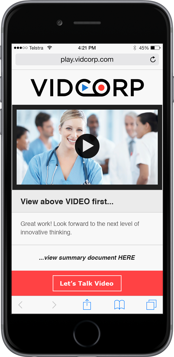 VidCorp healthcare demo
