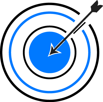 A target with an arrow in the middle