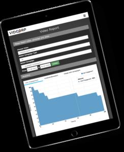 VidCorp analytics page
