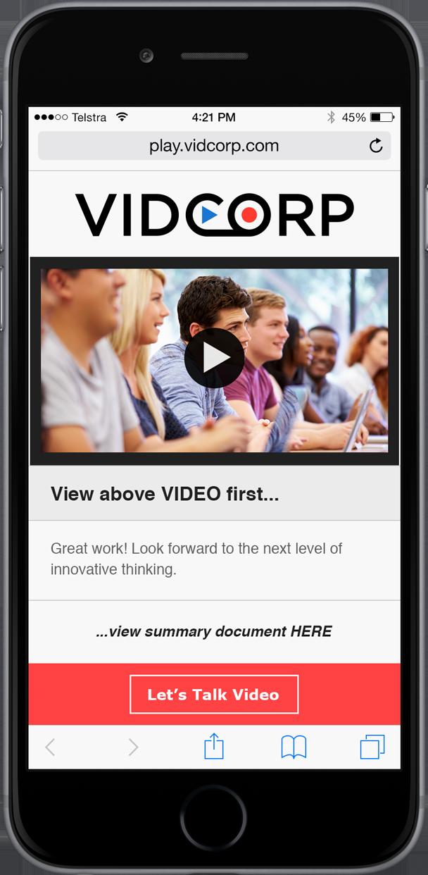 VidCorp Education demo