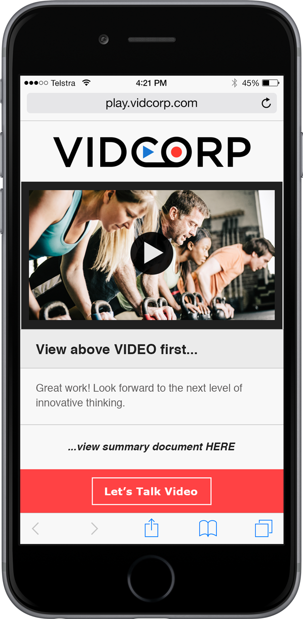 VidCorp Fitness demo