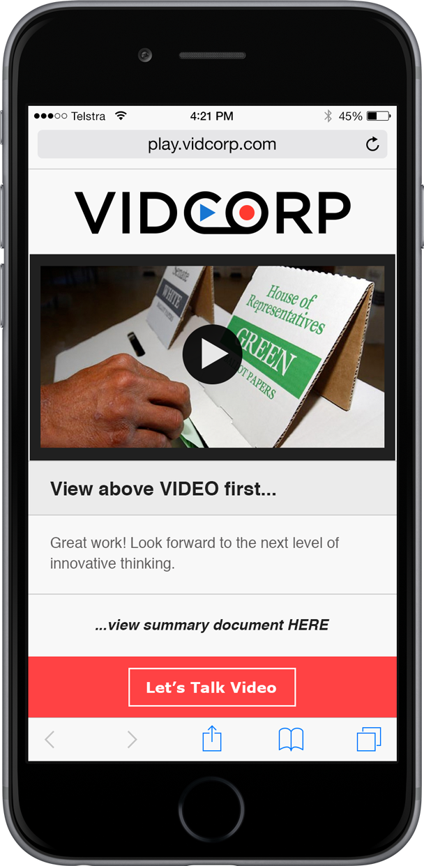 VidCorp Politics demo