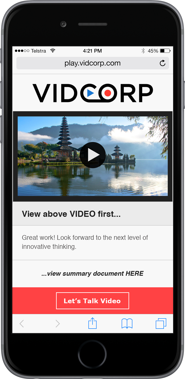 VidCorp Travel demo